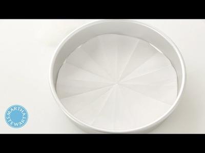 How to Make a Parchment Paper Round - Martha Stewart