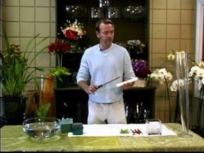 How to Make a Wedding Flower Arrangement : Tools for Making a Tall Wedding Floral Arrangement