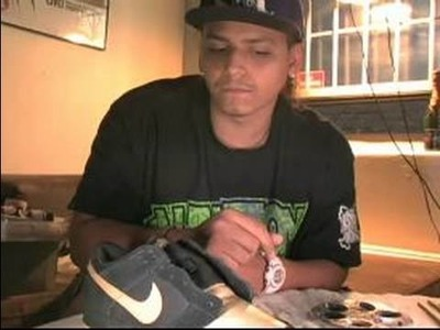How to Paint & Decorate Sneakers : Tips for Applying Final Details to Sneakers