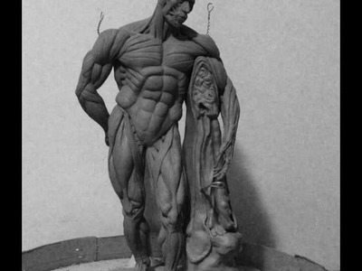 How to Sculpt Ecorche Hercules - Part 74 Finalizing  the flayed lion skin pedestal thingy