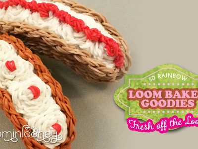 Long Split Doughnuts: 3D Rainbow Loom Baked Goodies