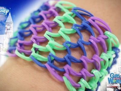 Loom Band Tutorial - Girl Meets World Dragon Scale Cuff - Official Disney Channel UK HD