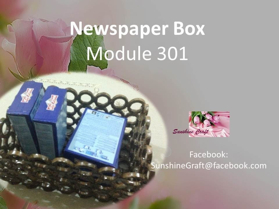 Making a newspaper basket box