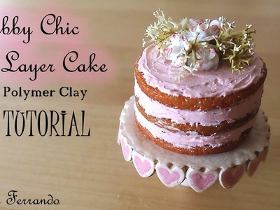 Miniature Polymer Clay Shabby Chic Layer Cake Tutorial | Maive Ferrando