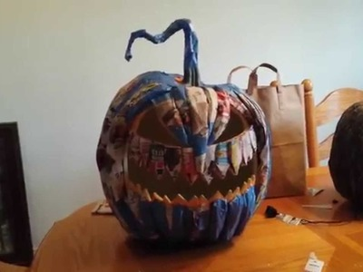 Paper mache pumpkin rot monster first build 2015