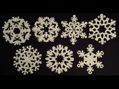 Paper snowflake tutorial - learn how to make snowflakes in 5 minutes - EzyCraft
