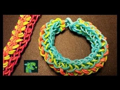 Passionflower Monster Tail Rainbow Loom Bracelet - EASY !!!