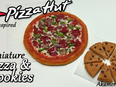 Pizza Hut inspired Miniature Pizza & Cookies - Polymer Clay Tutorial