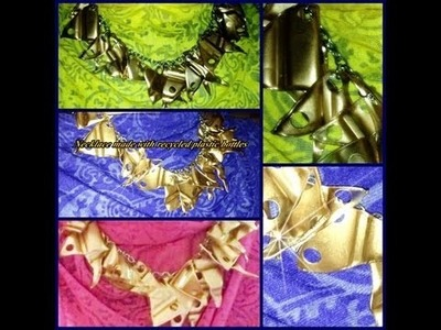 """PLASTIC BOTTLE  RECYCLED """"NECKLACE"""""""