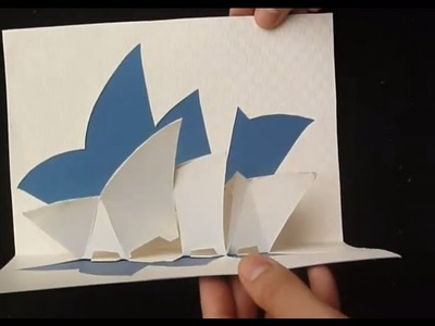 Pop Up Sydney Opera House Card Tutorial, Origamic Architecture