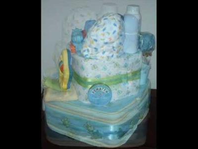 PRECIOUS DELIGHTS - SQUARE DIAPER CAKE