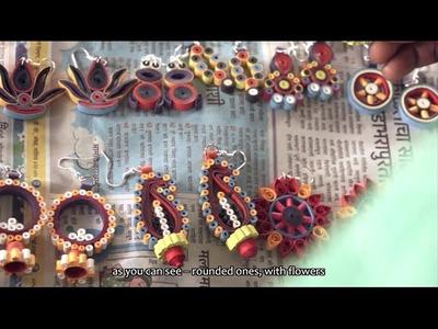 Quilled Paper Earrings   Katkari Tribalpreneurs Project   Sapana.org
