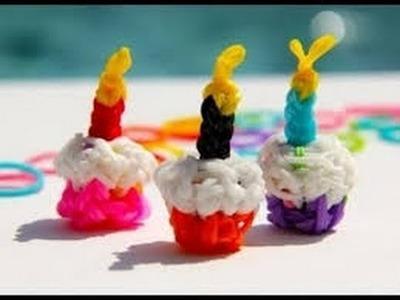 Rainbow loom cupcake charm 3D Easy