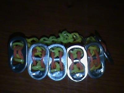 Rainbow Loom Soda Tab Bracelet!