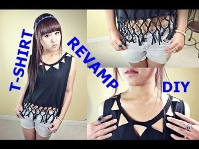 (Re-Upload ) DIY. Revamp Your Plain Black T-Shirt!