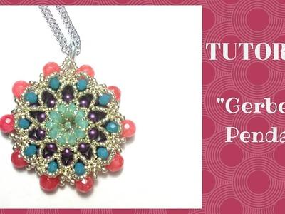 "Tutorial perline: ciondolo ""Gerbera""   beading tutorial: ""Gerbera"" pendant"
