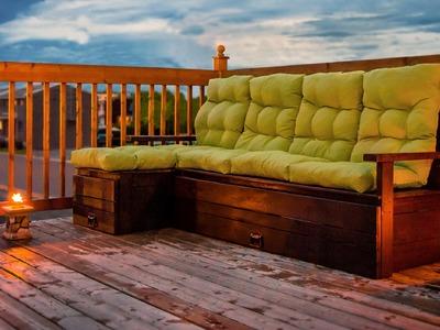Upgrade terrasse 2015 - Construction divan en bois - DIY Wood sofa - 2015 Terrace upgrade