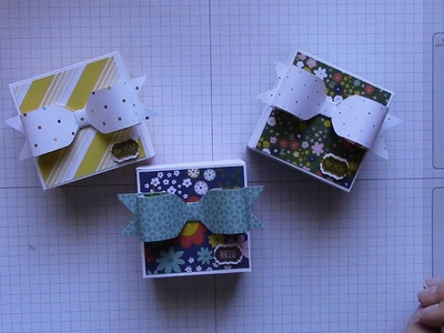 Bow Box using envelope punch board and stampin' up designer series paper