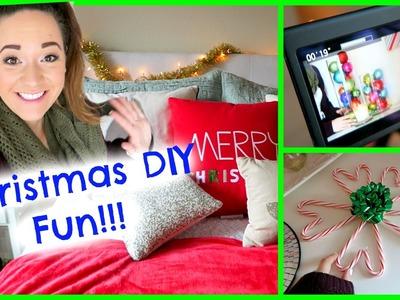 DIY CHRISTMAS DECOR FILMING + MAGICALNESS!!!