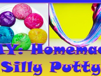 DIY: HOMEMADE Rainbow Silly Putty using only Cornstarch and Dish soap! Without Borax!