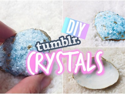 DIY Room Decor: Tumblr Inspired Crystals with SEASHELLS!