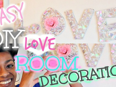 "DIY Room Decoration ! EASY Holographic ""LOVE"" Wall Art :) !"
