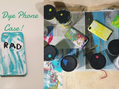 DIY: TIE DYE PHONE CASE! (SUPER EASY)