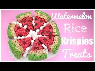 DIY Watermelon Rice Krispies Treats