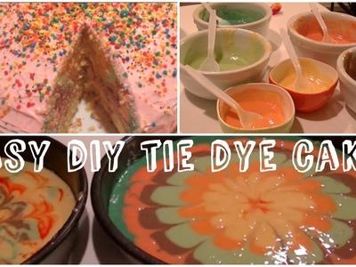 ♡ Easy DIY Tie Dye Cake! ♡