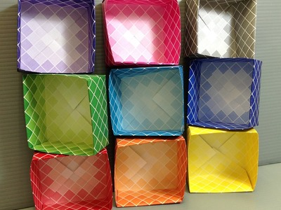 FREE Print at Home Square Harmony Origami Paper