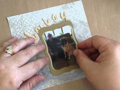 How to Frame Pictures with Spellbinders Dies & Tim Holtz Paper