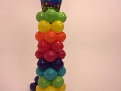 How To Make a Balloon Tower- Stripey Cupcake Theme- DIY Balloon Project