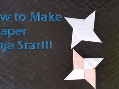 How To Make a Paper Ninja Star (shuriken)