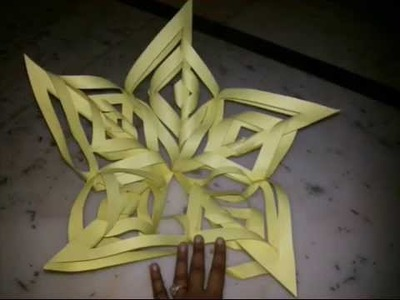 Make Snowflakes With Paper | Diwali Kandil Making