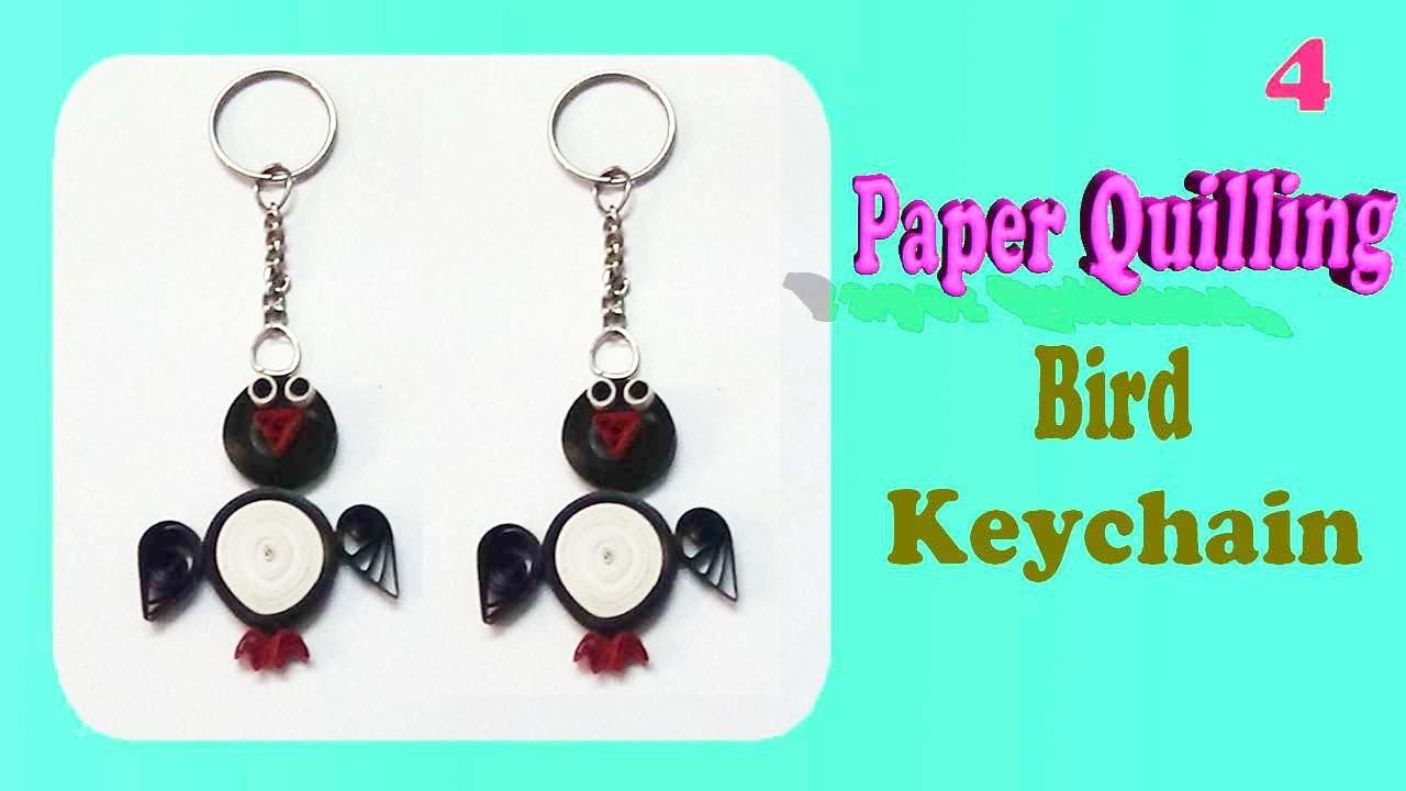 Paper quilling Bird Keychain