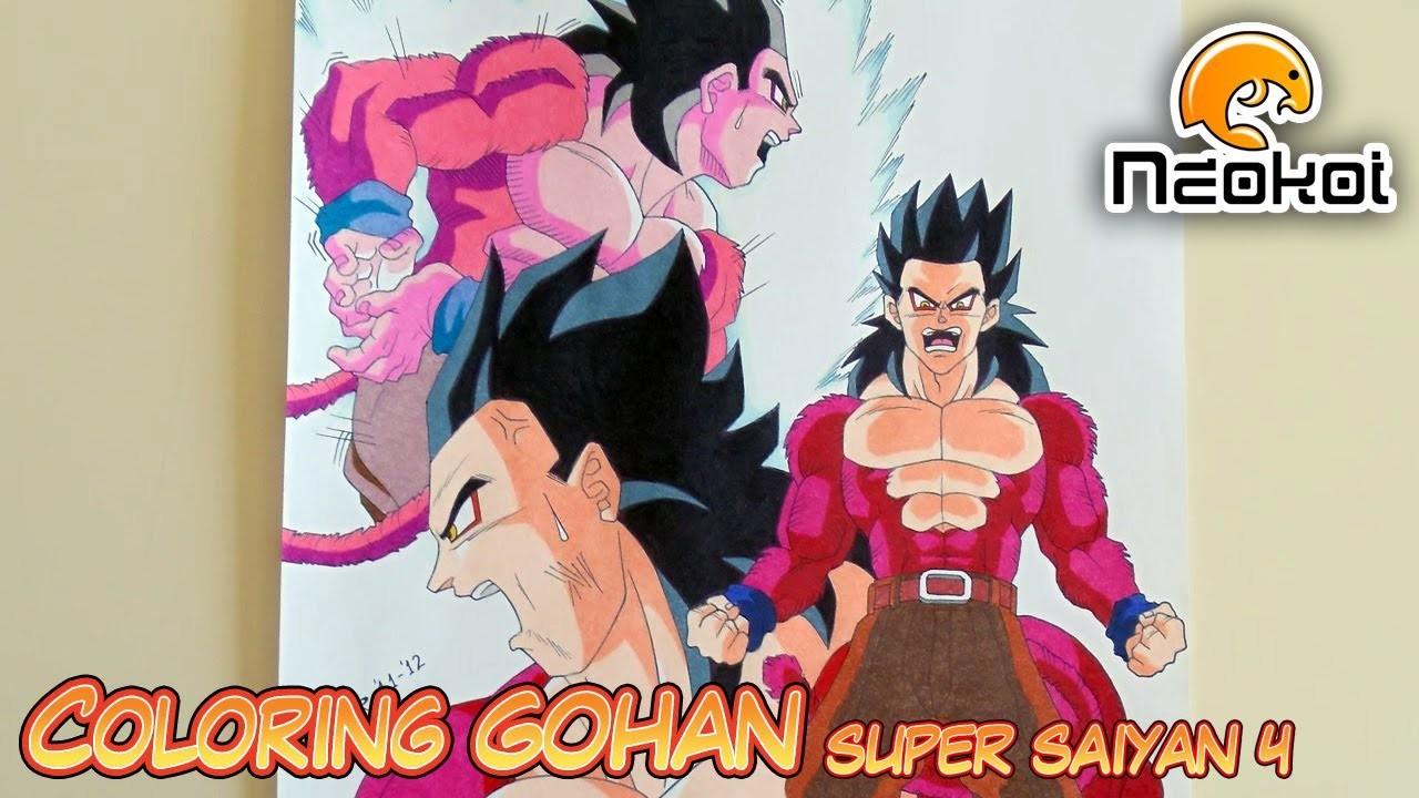 Coloreando a Gohan SSJ4 (Dragon Ball AF) | Neokoi Comics