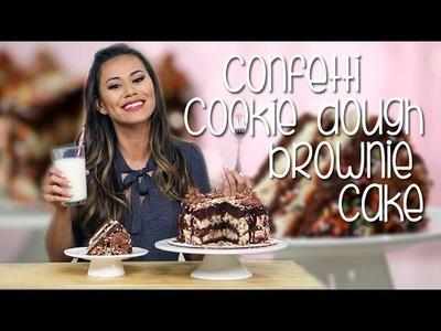 Cookie Dough Confetti Brownie Cake | Just Add Sugar