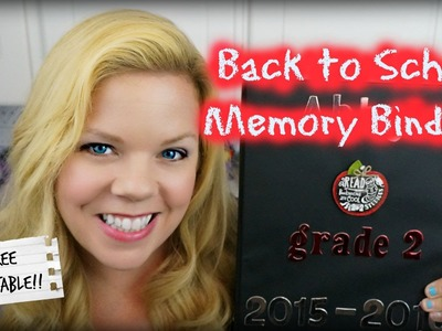 DIY Back To School Memory Binder