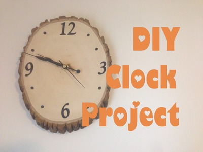 DIY Clock Project; Woodland Nursery Theme Clock