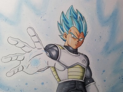 Drawing Vegeta SSGSS – Super Saiyan God Super Saiyan - Resurrection F'