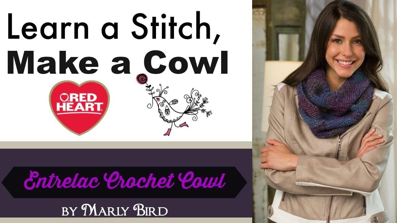 Entrelac Crochet Cowl