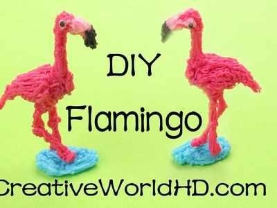 How to Make Flamingo - 3D Printing Pen Creations.Scribbler DIY Tutorial(Creative World)
