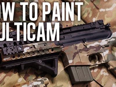 How to Spray Paint MultiCam LEGIT!