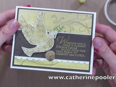 How to use Gelatos and Stampin' Up's Calm Christmas Stamp Set with Catherine Pooler
