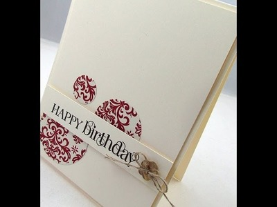KISS Card Masculine - Simple Cards to Make with Catherine Pooler