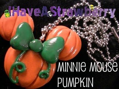 Minnie Mouse Pumpkin Necklace