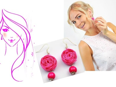 MORENA DIY: HOW TO MAKE RIC RAC RIBBON ROSE EARRINGS. Flower Tutorial
