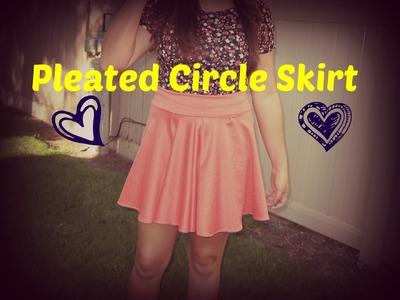 Pleated Circle Skirt Tutorial