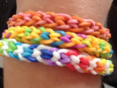 Rainbow Loom: Inverted fishtail tutorial easy.bigginer no loom using your fingers