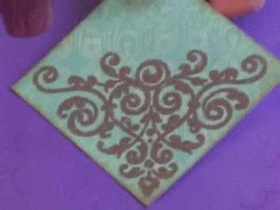 Rubber Stamping with Stephanie Barnard Aged Copper Embossing